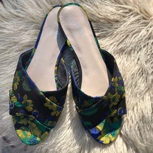 Sandals, Black/Yellow/Blue/Green, Anthropologie